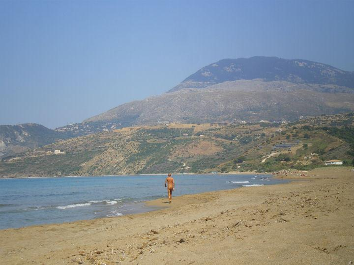 Alone in the world on the naturist beach of Mouda