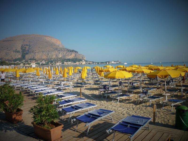 Mondello beach is just 120 metres