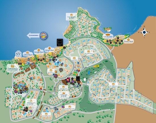 The resort Map