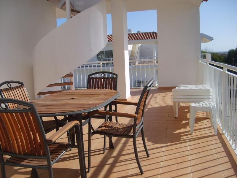 BBQ patio furniture and balcony for the long sunny days