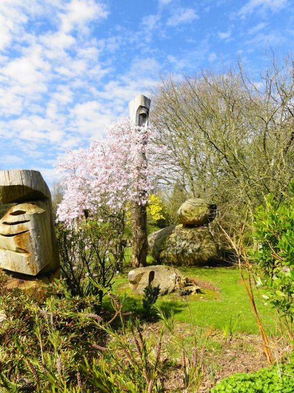 The Spring stone garden