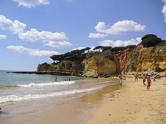 A typical Algarvian Beach cove - miles of unspoilt golden beaches