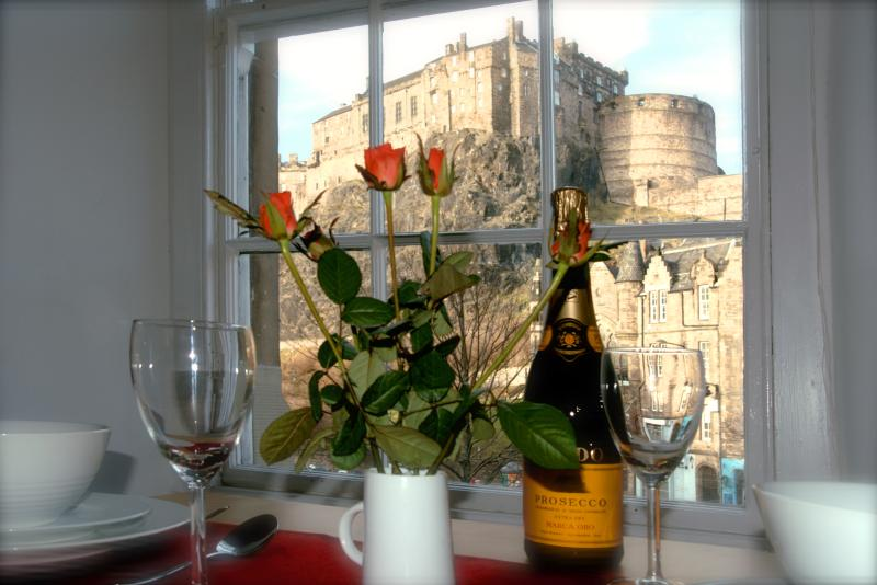 Enjoy a glass of wine and admire the view!