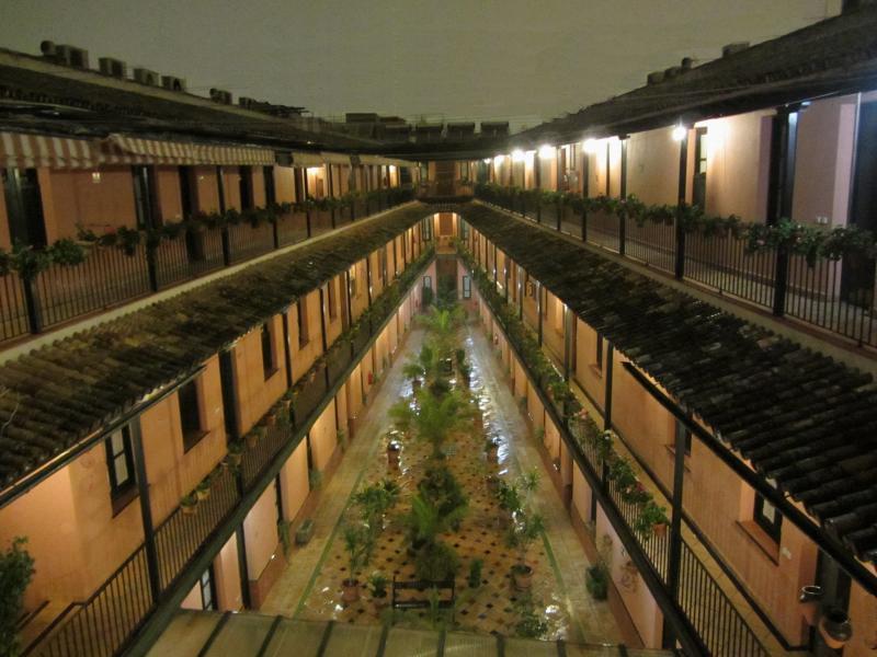 Corral at night