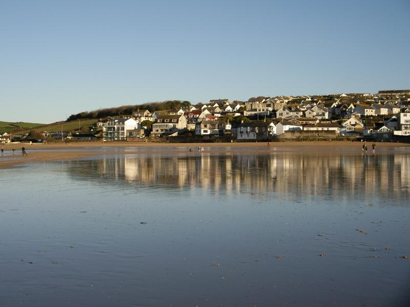 Porth from the shoreline, a postcard view