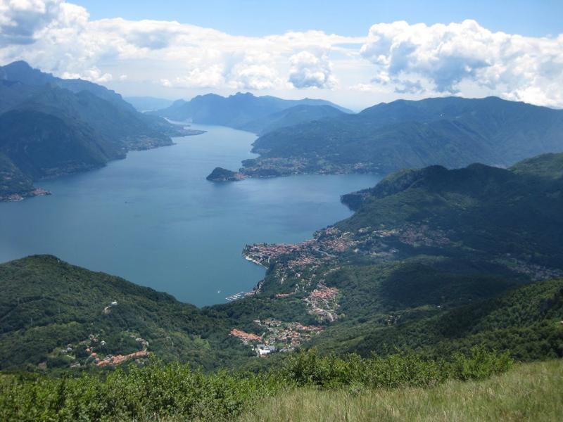 View of Lake Como, Bellagio from Breglia