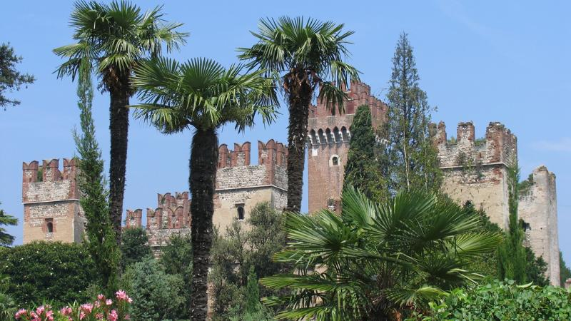 The  castle scaligero  of Lazise