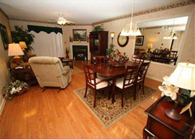 Living and Dining Room with Hardwood Floor