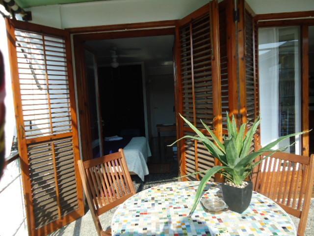 La chambre vue de la terrasse