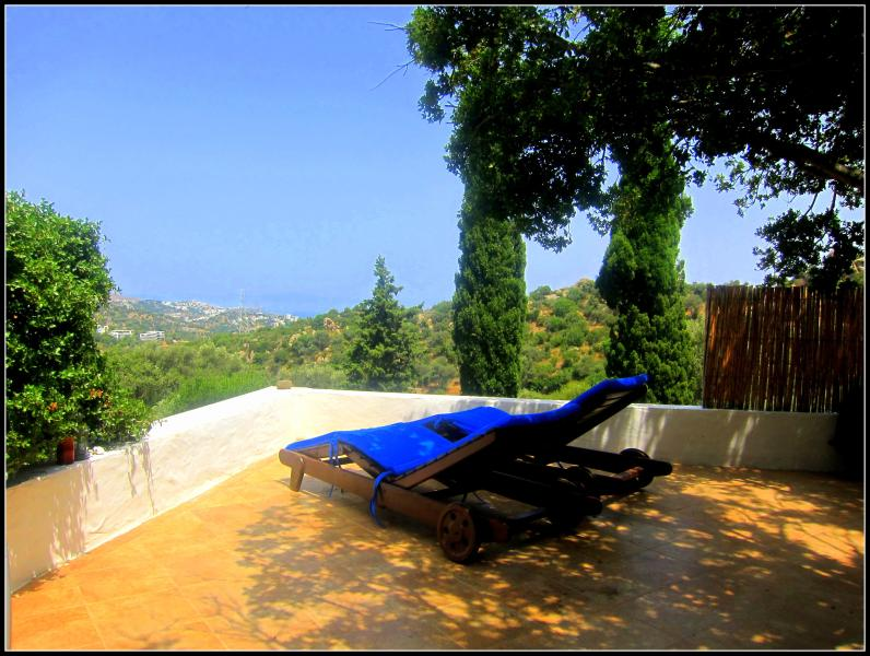 View of the Aegean Sea from your chaise lounge