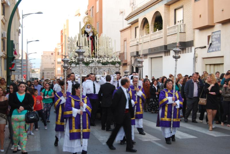 Easter parade in Roquetas de Mar