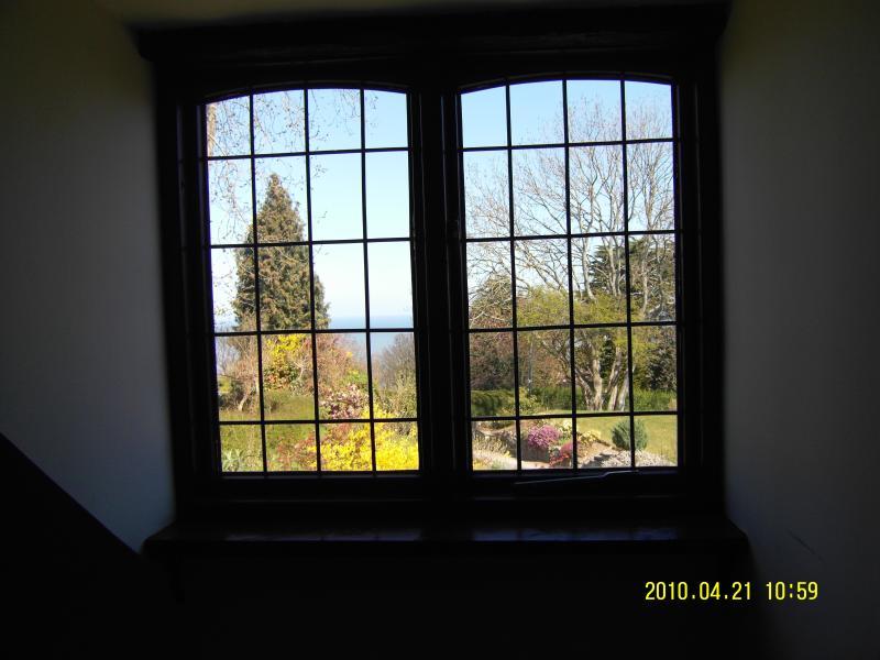 Garden view from the bedroom