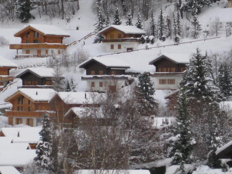 Looking across at the chalet (extreme right)