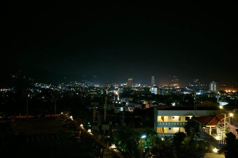View of Patong at night from terrace