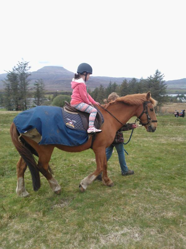 Horse riding in Portree