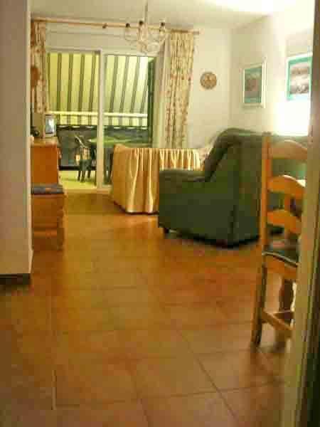 Amplio salón comedor con sofás de tres más dos.