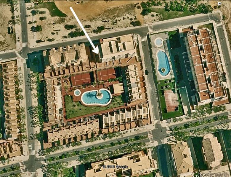 Situación de la vivienda en la urbanización.