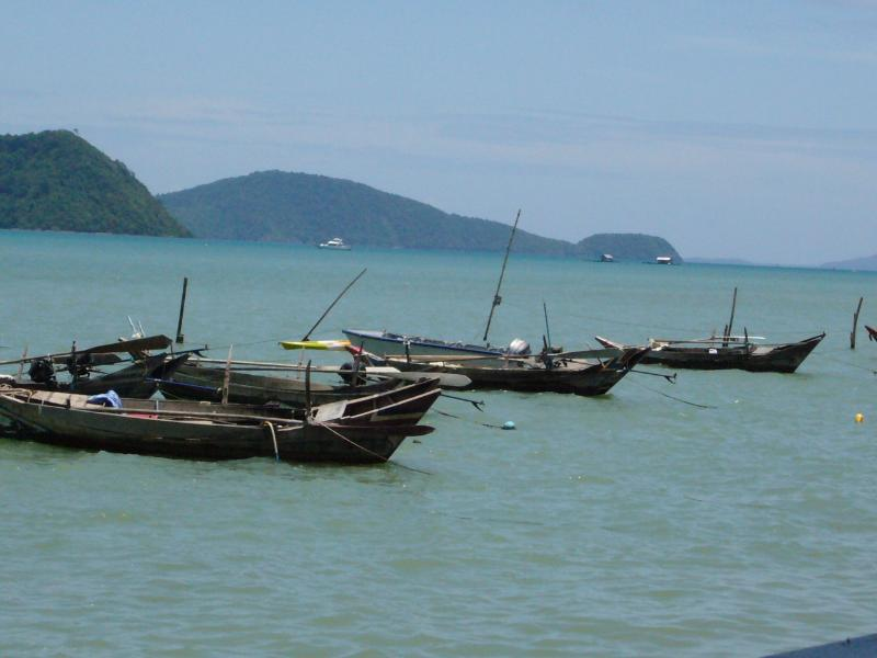 Long tail fishing boats at Rawai