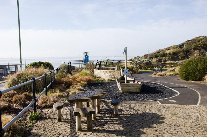 Children's play area with sea views, 5 minutes from your flat.