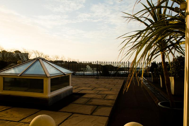 Sunrise on your roof terrace.