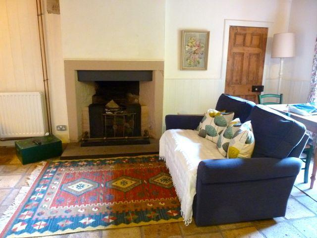 A romantic fireplace