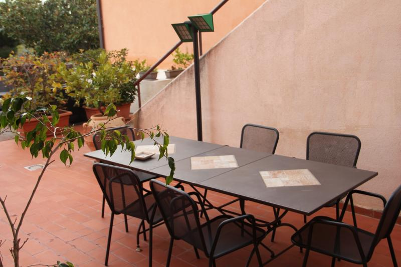 Outdoor terrace for breakfast