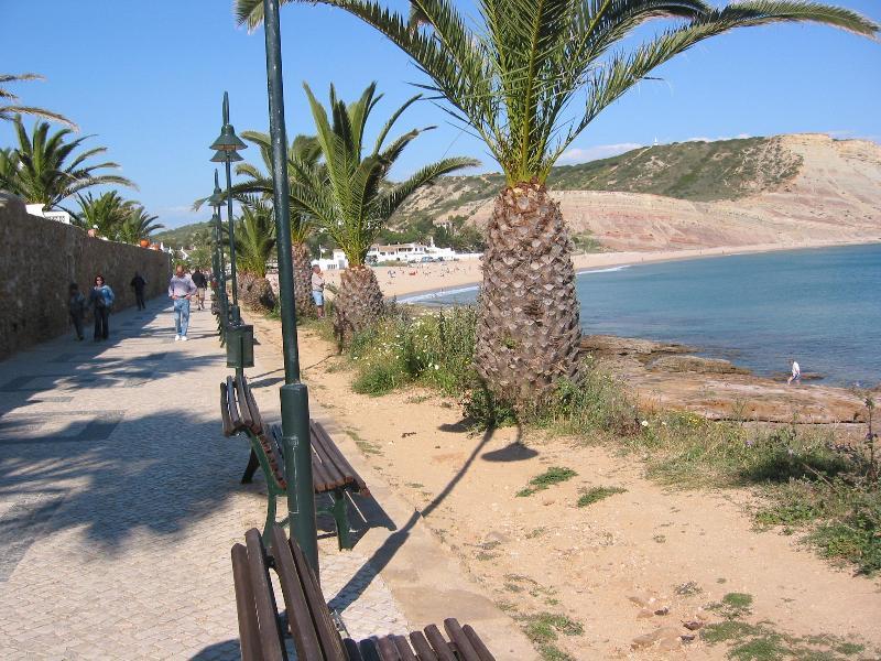 The prom at Praia da Luz and beach -just 8 minutes walk from Vila Margarida