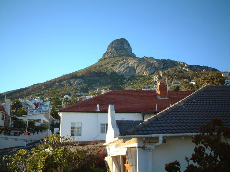 Stunning view of the Lion's Head from balcony.