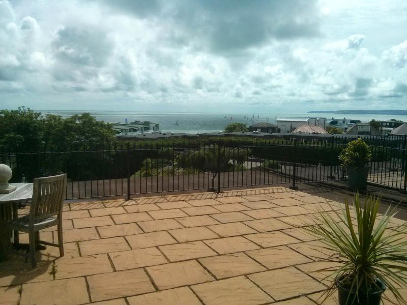 Sea views from flat and large private terrace for you to enjoy from sunrise to sunset!