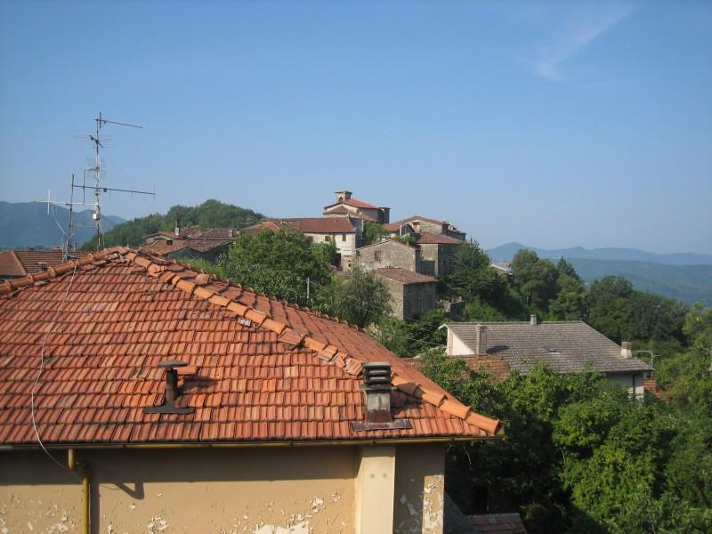 The village of Luscignano as seen from the rooftop terrace