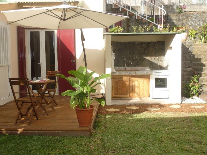 View bungalow y cocina