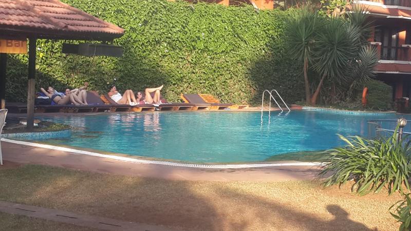 Swimming pool below the apartment