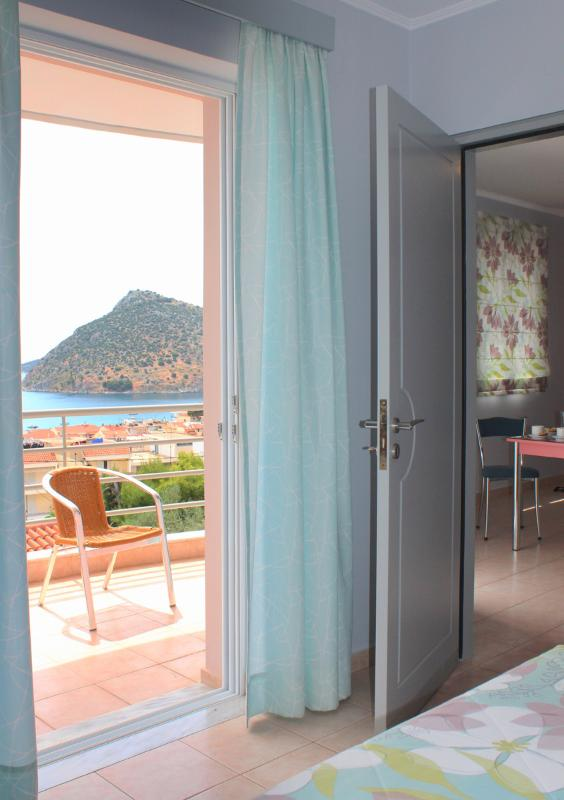 View from one of the sea view Apartments in Tolo at Hotel Apartments Amaryllis