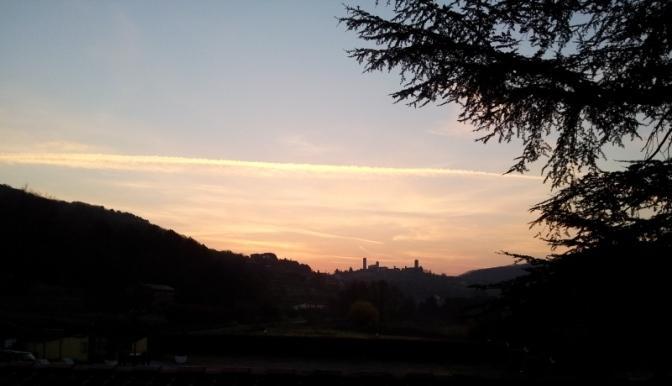 L'alba dalle nostre camere