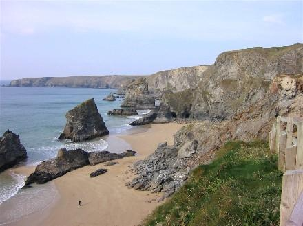 Bedruthan Steps - you need to be fit to climb back up!