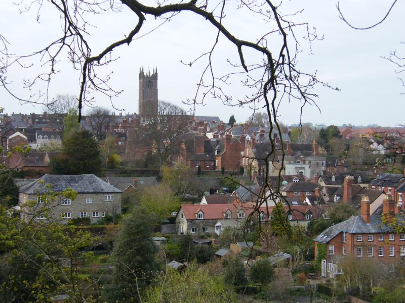 Looking over Ludlow from Whitcliffe Common