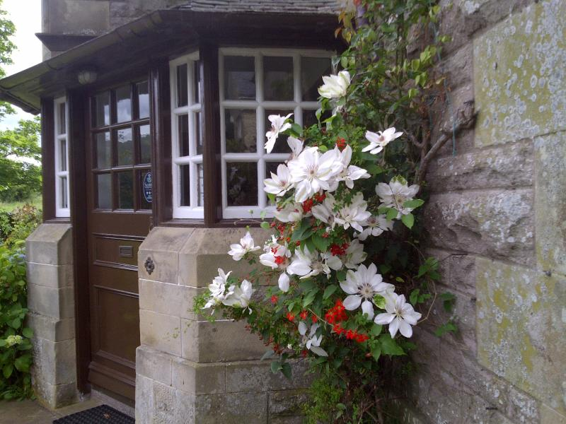 Porch with clematis