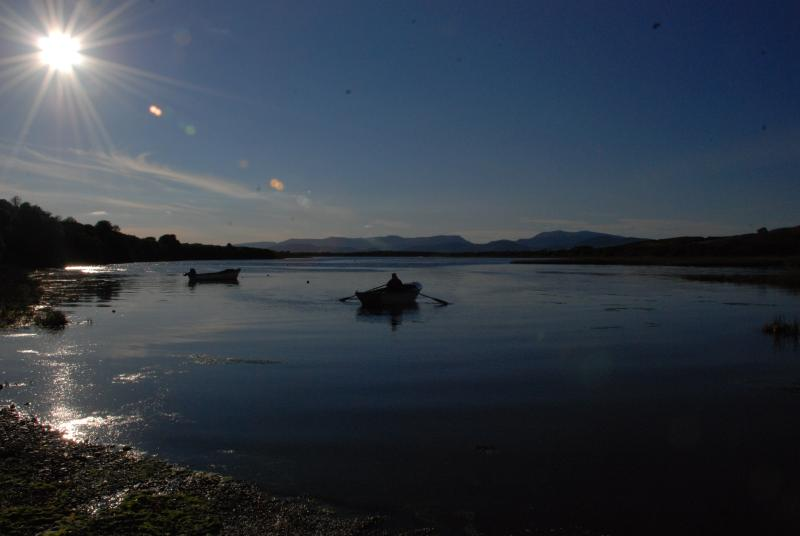 Watch the sun go down on Dingle Bay to the rear of the cottage