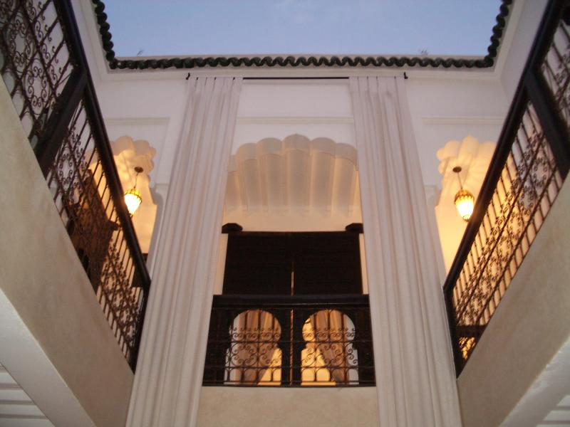 Looking up through the Riad