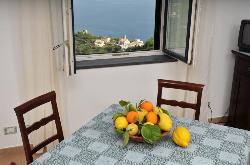 Tommaso House dining room with view