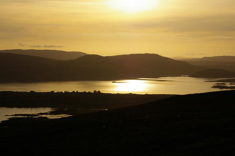 Sunset from the top of nearby Mount Gable