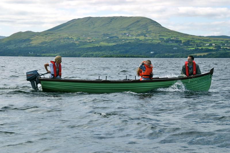 Boating on Lough Corrib