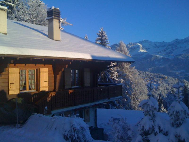 Cosy Swiss alpine wood chalet in Villars, vacation rental in Canton of Vaud