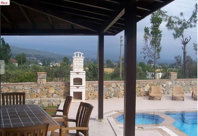 Terrace Overlooking the Private pools