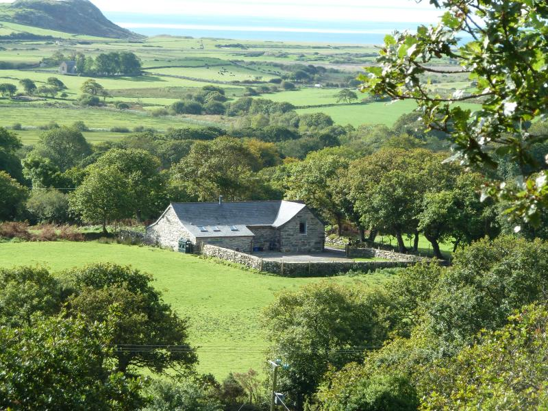 Hebog Bach has stunning views across the Llyn Peninsular