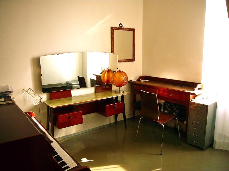 Studio with piano
