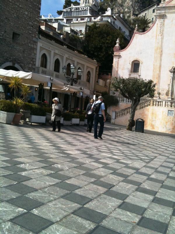 Square in Taormina, Sicily