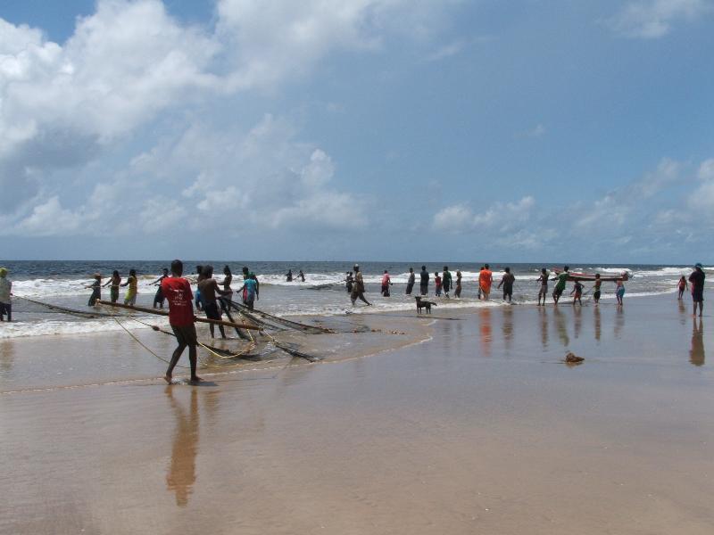 Fishing at Mayaro Bay