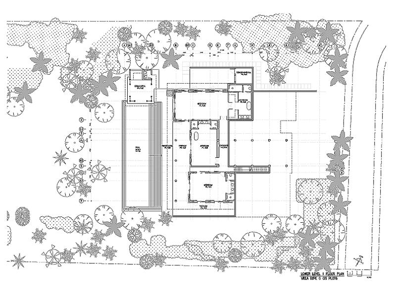 Sketch 4: a birds-eye view of the ground floor.