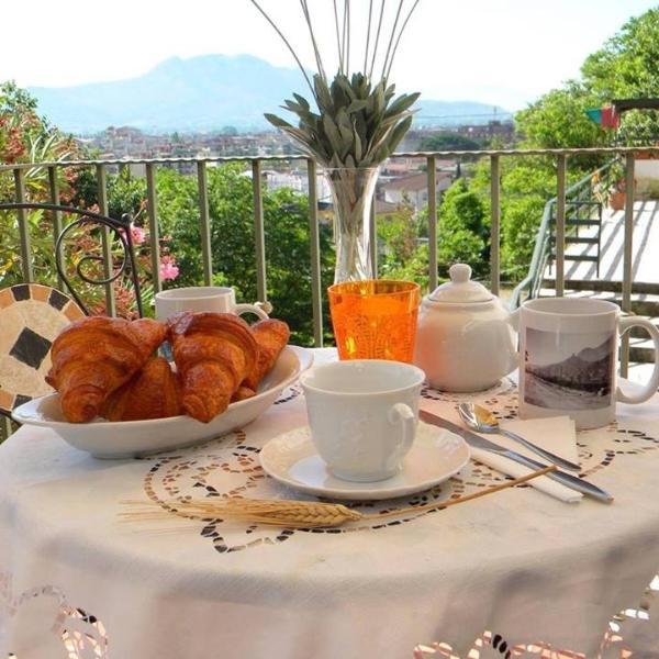 Angolo colazione all'aperto